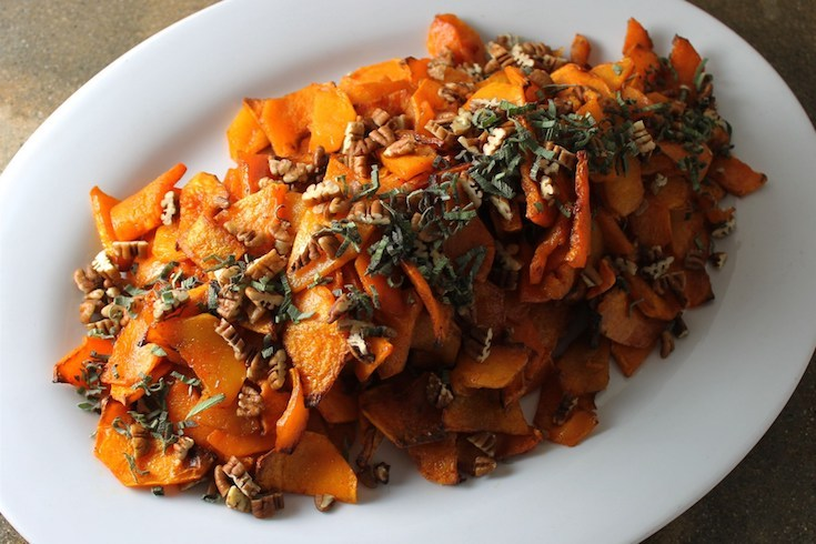 Butternut Squash With Maple, Pecans and Sage