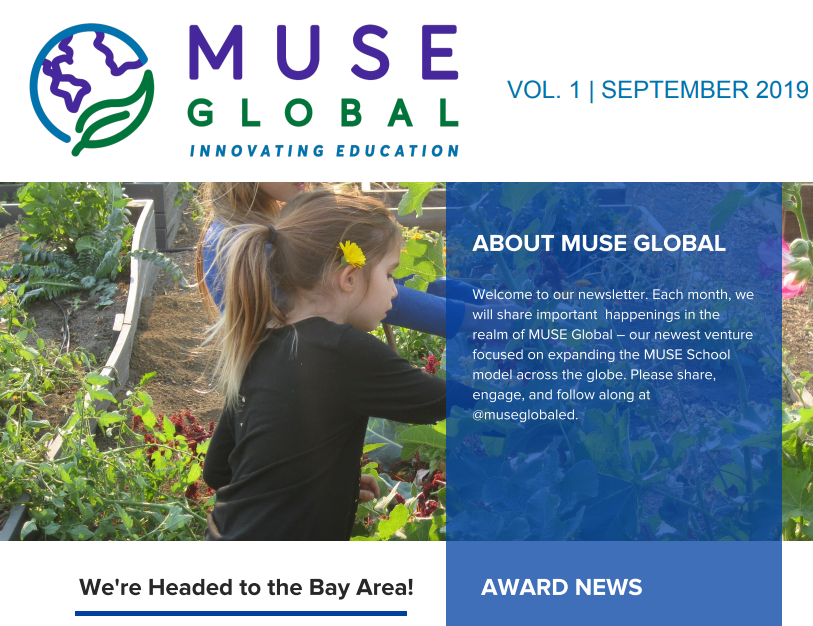 Introducing the MUSE Global Newsletter | September 2019 Edition