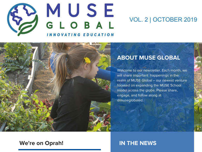 MUSE GLOBAL NEWSLETTER  |  OCTOBER 2019 EDITION